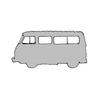 Set of body seals and rubbers parts for Renault Estafette Alouette or Microcar not raised (sheet metal roof).