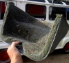 Bonnet insulation for Renault Estafette from 1969 to the end of production.
