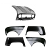 Pack 4 wings/fenders, bonnet for Renault R4 4L. Bonnet for models with license plate riveted on it.