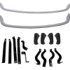 Painted bumper kit for Renault R4 4L. Front and rear bumpers, 4 bumpers, fittings. 4L since 1968.