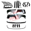 Pack 4 wings/fenders, bonnet for Renault R4 4L, chromed bumpers, bumper and fittings. Bonnet for models with license plate riveted on it.