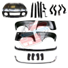 Pack 4 wings/fenders, bonnet for Renault R4 4L, chromed bumper, hardware and bumpers. Bonnet for models with license plate attached to the bumper.