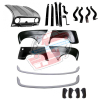 Pack 4 wings/fenders, bonnet for Renault R4 4L, painted bumpers, bumper and fittings. Bonnet for models with license plate riveted on it.