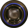 """Blue edged sidewalls 13"""" for Renault R4 4L. Set of 4 pieces."""