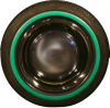 """Green edged sidewalls 13"""" for Renault R4 4L. Set of 4 pieces."""