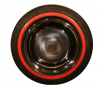 """Red edged sidewalls 13"""" for Renault R4 4L. Set of 4 pieces."""