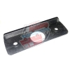 Mirror base plate gasket for Renault R4 4L sedan with plastic mirror.