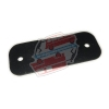 Mirror base plate gasket for Renault R4 4L van F4 or F6. Mirror with rectangular base.