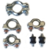 Renault R4 4L exhaust mounting kit ; clamps + mounting rubbers.
