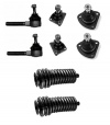 Kit steering and suspension ball joints with rack bellows for Renault R4 4L from 1979 to the end of production.