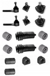 Kit steering and suspension ball joints, bellows, mounting rubbers arm and stabilizing bar for Renault R4 4L from 1979 to end of production.