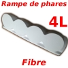 Headlight ramp, mounting plate long range headlamps for Renault R4 4l bonnet. Fiber to pierce. Perfect curve for the hood, uses 4L lights and bowls!