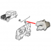 Clip for fixing the hood retaining bar for Renault R4 4L.